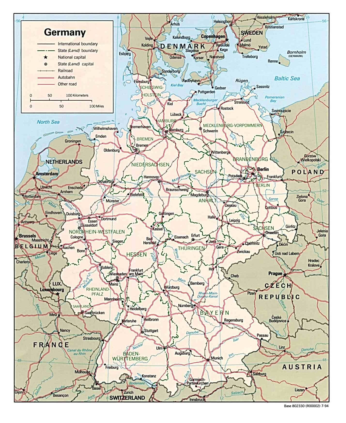 Download Free Germany Maps inside Germany Map Download