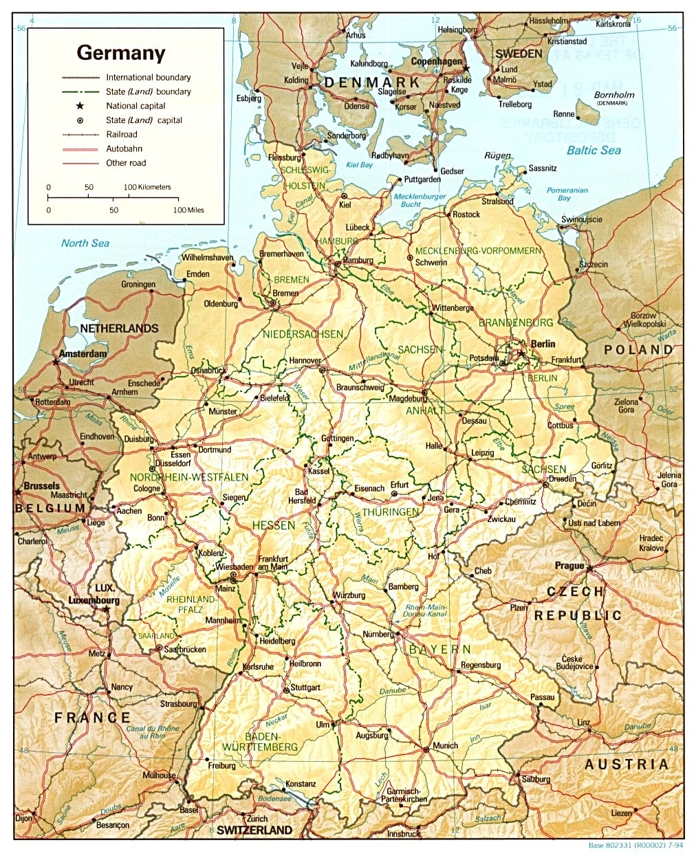 Download Free Germany Maps intended for Germany Map Download