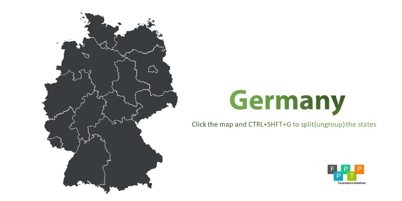 Download Germany Map For Powerpoint | Download Free Powerpoint with Germany Map Download