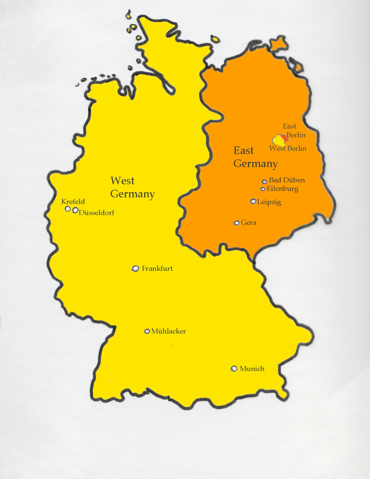 Dreaming In German: Map Of Divided Germany within Divided Germany Map