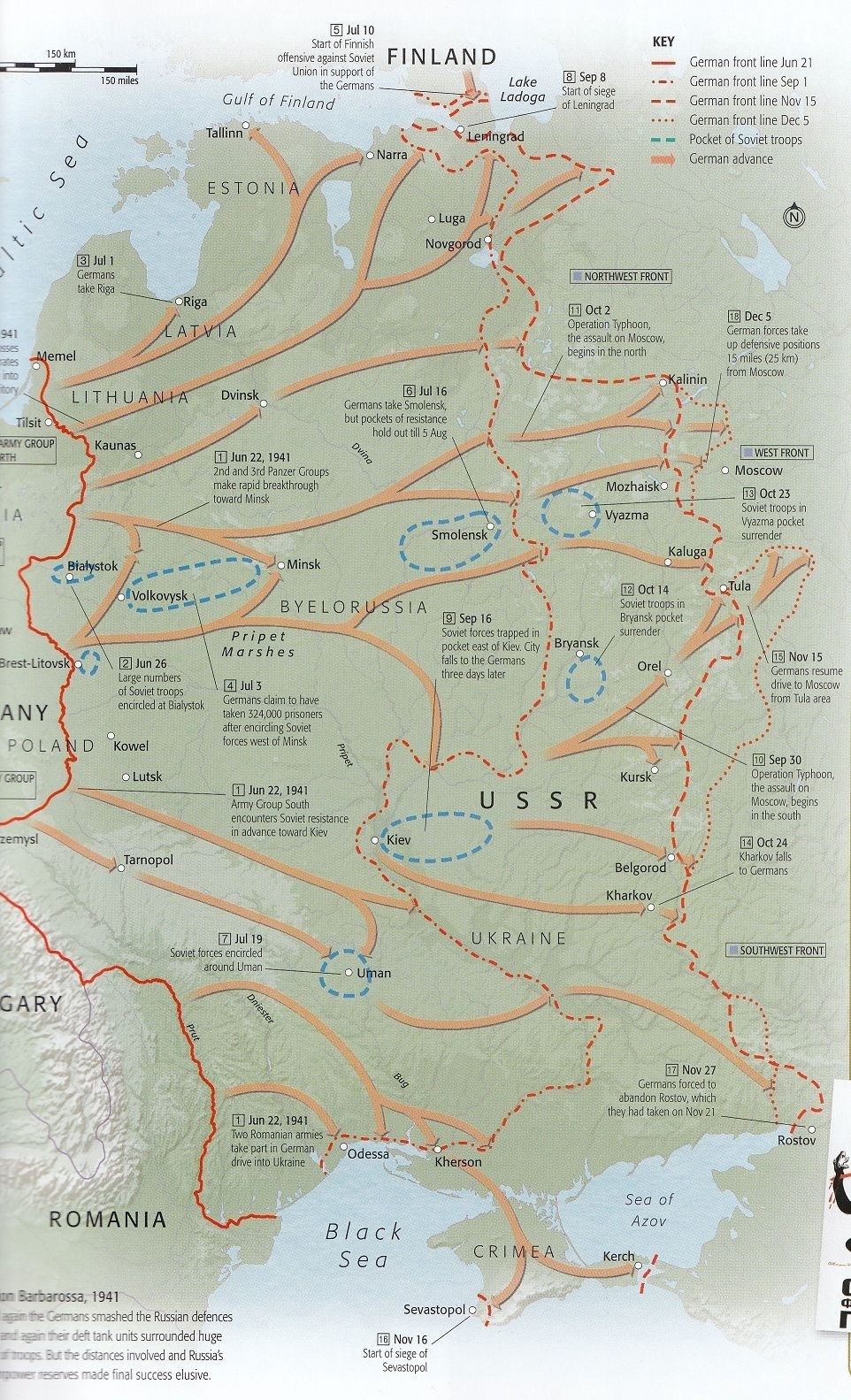 E3 Barbarossa To Moscow | Campaigns Of Ww Ii | Military History pertaining to German Military Maps Ww2