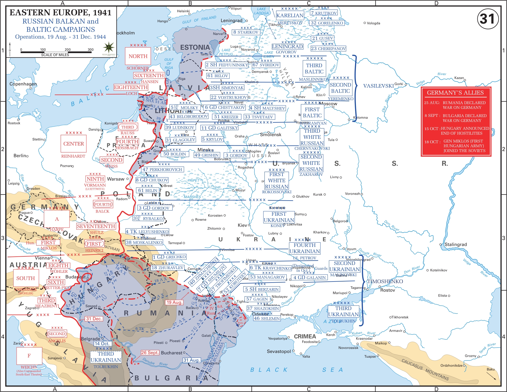 Eastern Front Maps Of World War Ii - Inflab - Medium within Ww2 German Maps For Sale