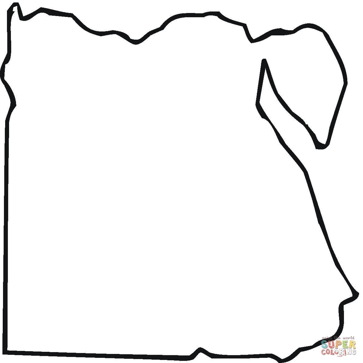 Egypt Map Outline Coloring Page   Free Printable Coloring Pages pertaining to Germany Map Coloring Page