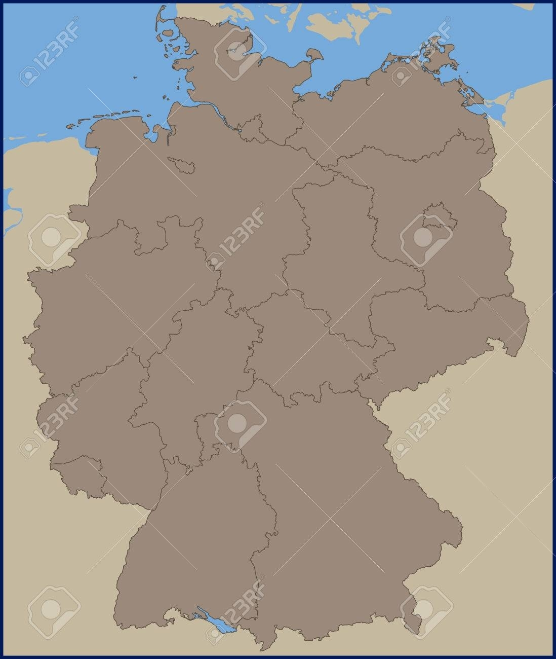 Empty Political Map Of Germany inside Empty Map Of Germany