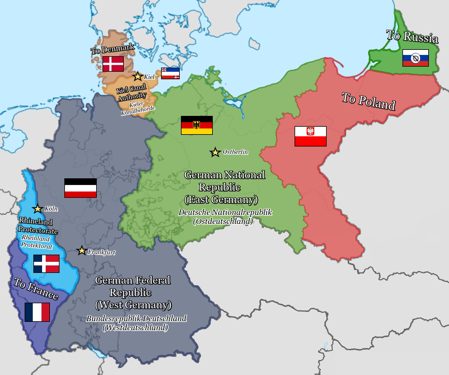 Entente Division Of Germany 1950, Take 2 : Kaiserreich throughout Map Of East Germany 1950