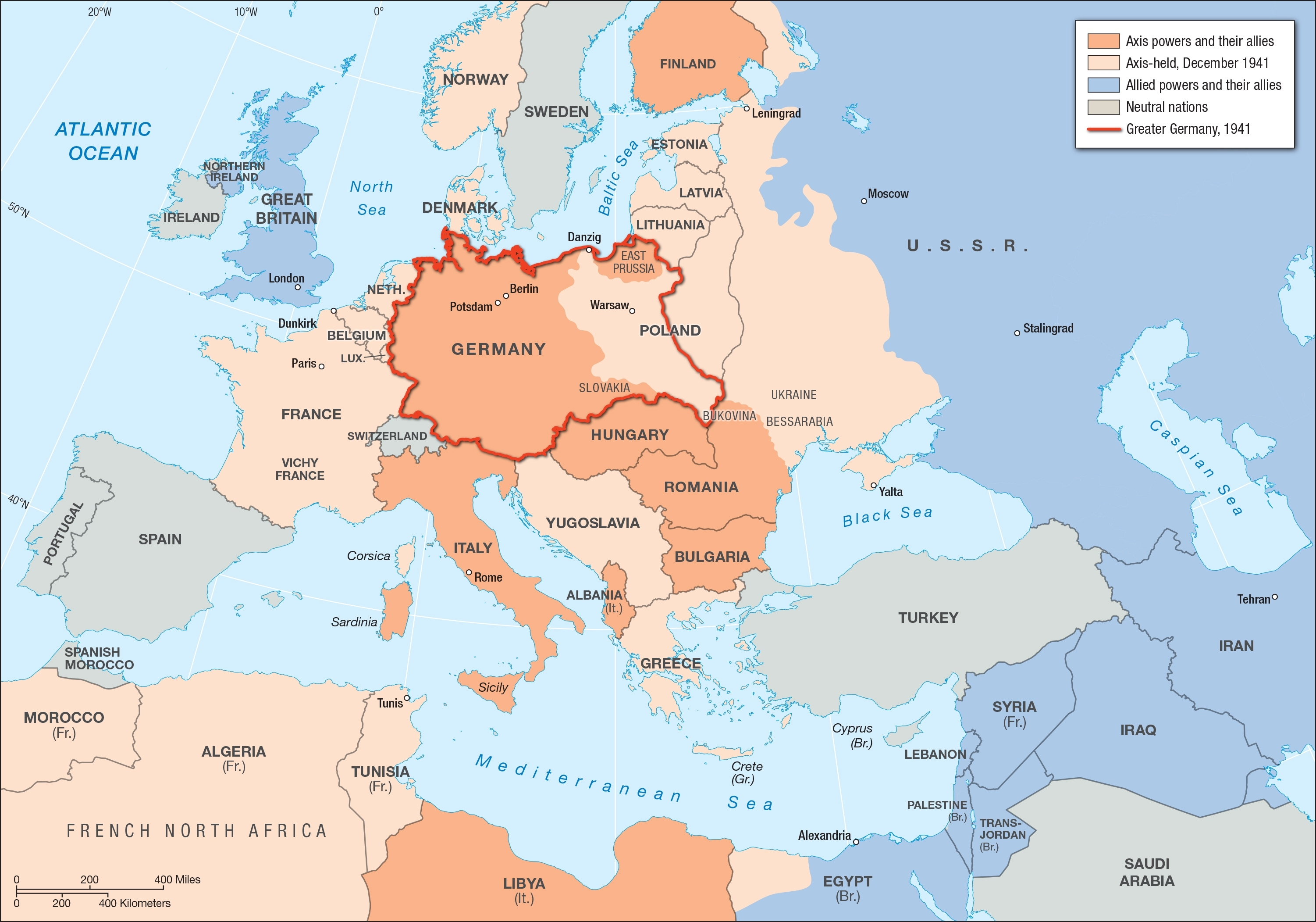 Europe And The Middle East, 1941 | Facing History And Ourselves intended for Map Of German Occupied Europe During Ww2