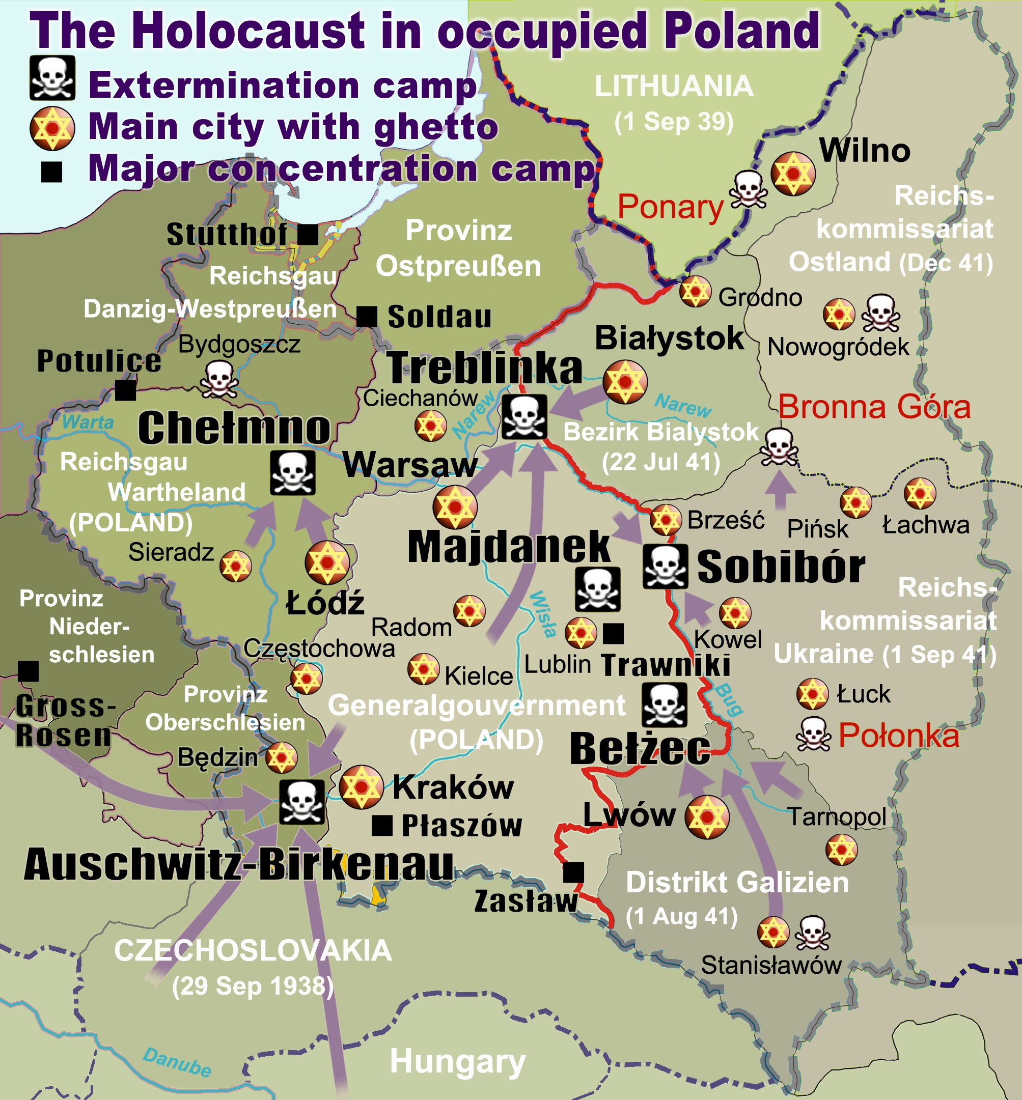 Extermination Camp - Wikipedia within Map Of Germany With Concentration Camps
