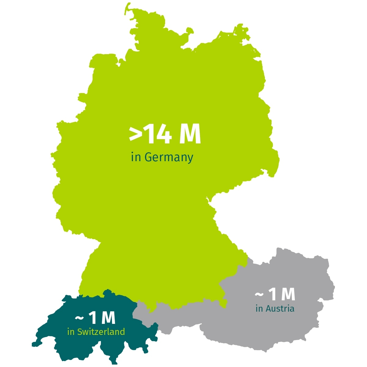 Facts And Figures ✓ Xing Media Data with regard to Map Of Germany Austria And Switzerland