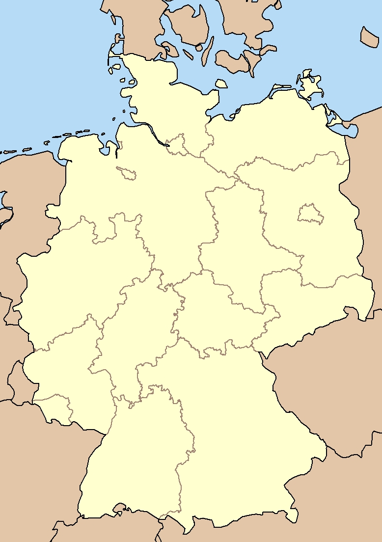 File:blank Map Germany States - Wikimedia Commons inside German States Map