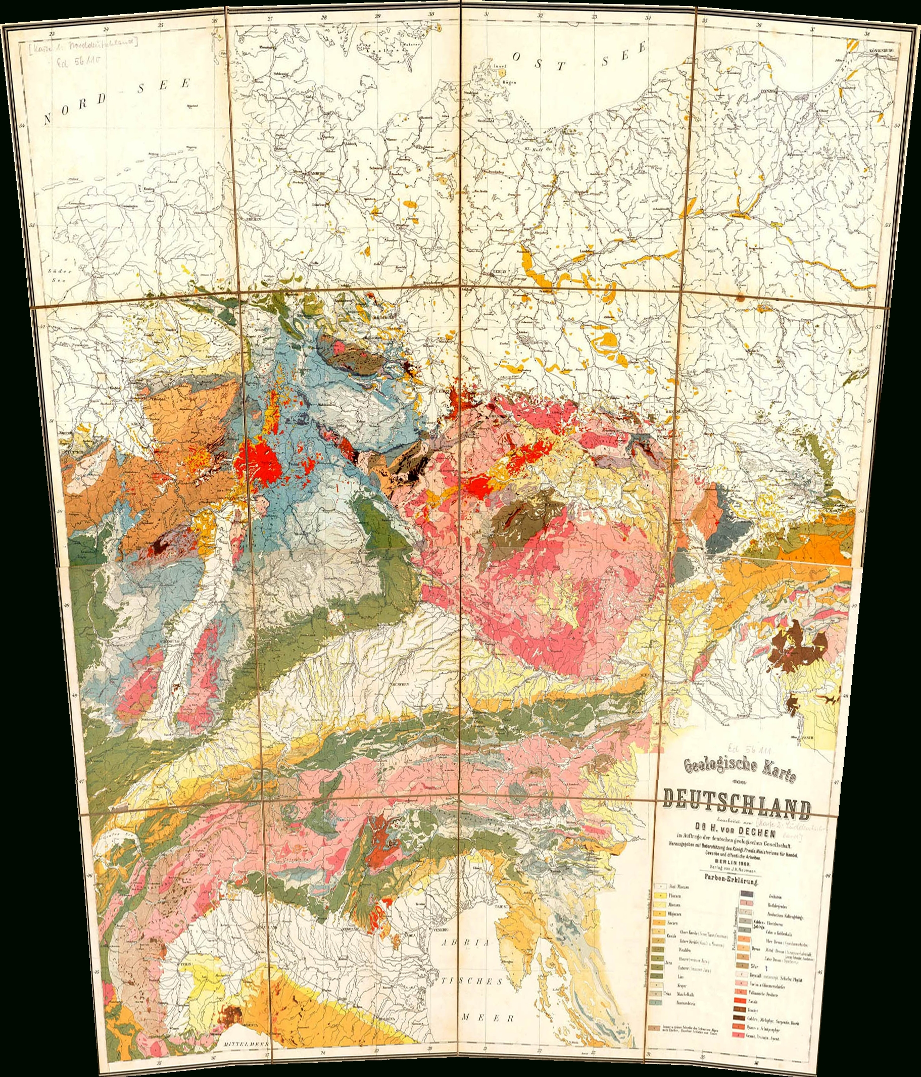 File:geological Map Germany 1869 Equirect - Wikimedia Commons throughout Geological Map Of Germany