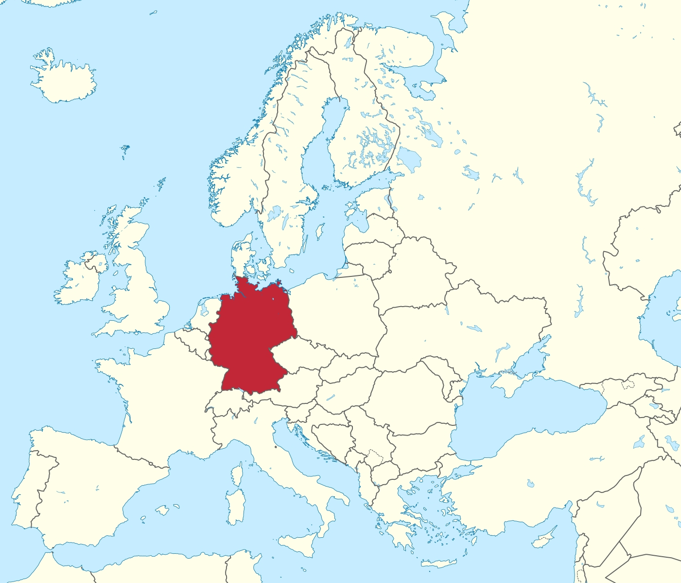File:germany In Europe (-Rivers -Mini Map).svg - Wikimedia Commons pertaining to Europe Map With Germany Highlighted