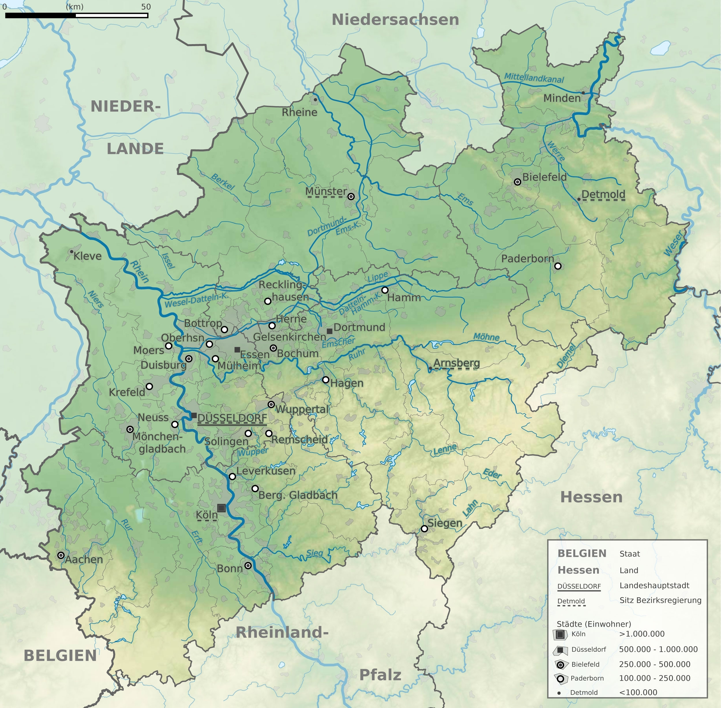 File:north Rhine-Westphalia Topographic Map 01 - Wikimedia Commons within Topographic Map Of Germany In English