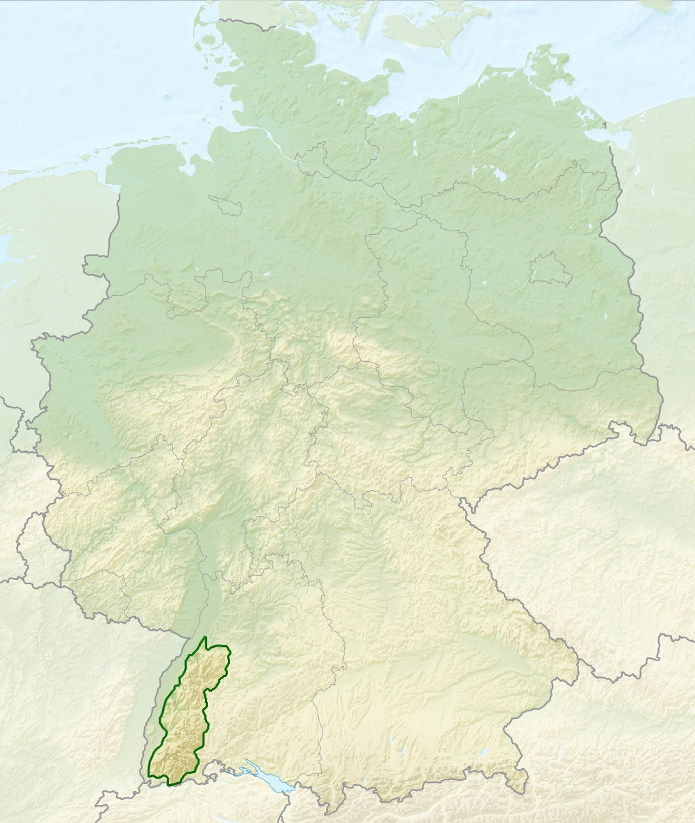 File:relief Map Of Germany, Black Forest - Wikimedia Commons within Black Forest Area Germany Map