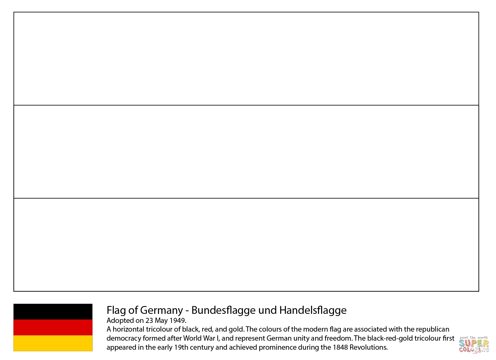 Flag Of Germany Coloring Page   Free Printable Coloring Pages with Germany Map Coloring Page