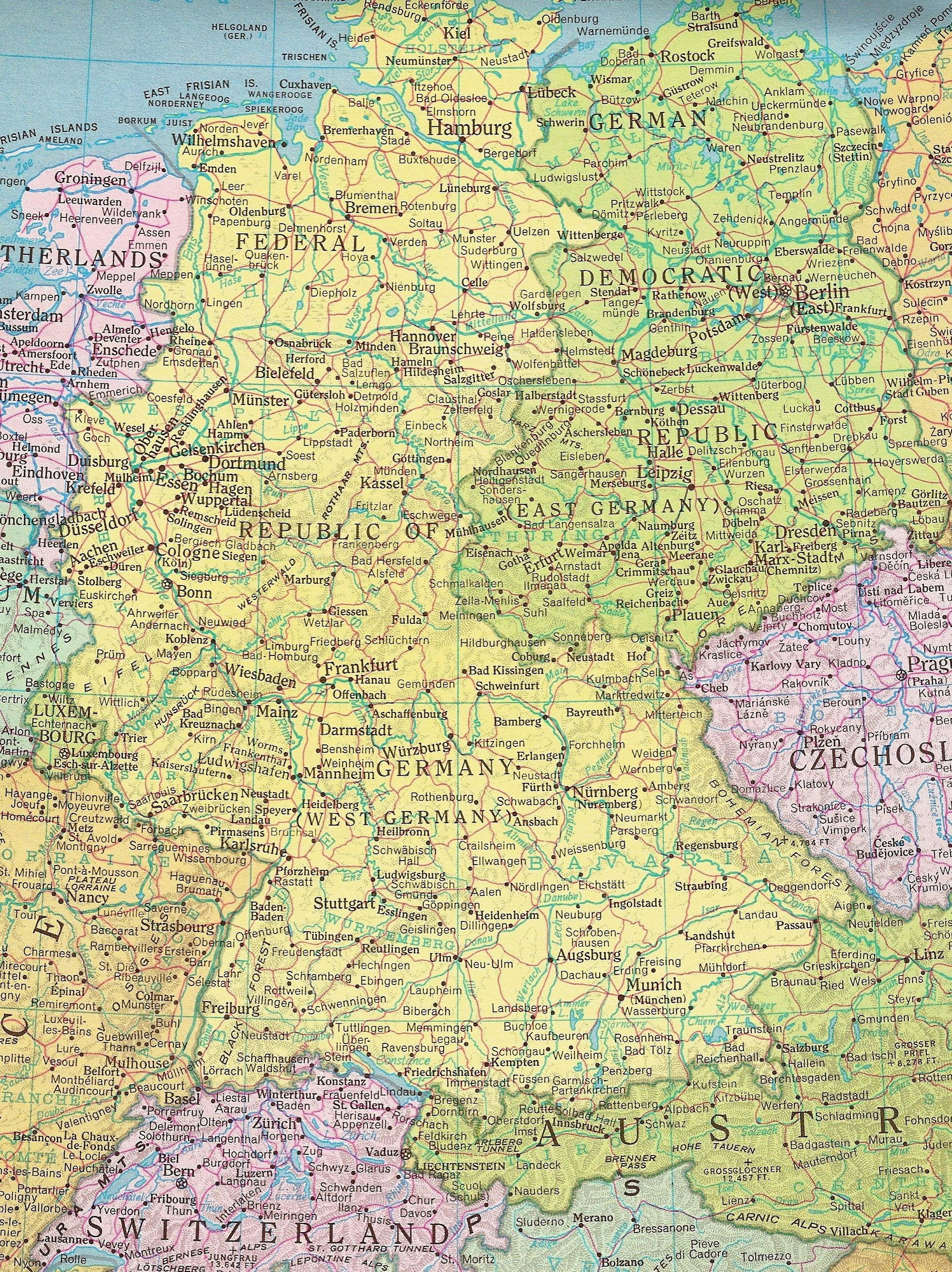 Former East Germany And West Germany | All Things German | East pertaining to East Germany Map