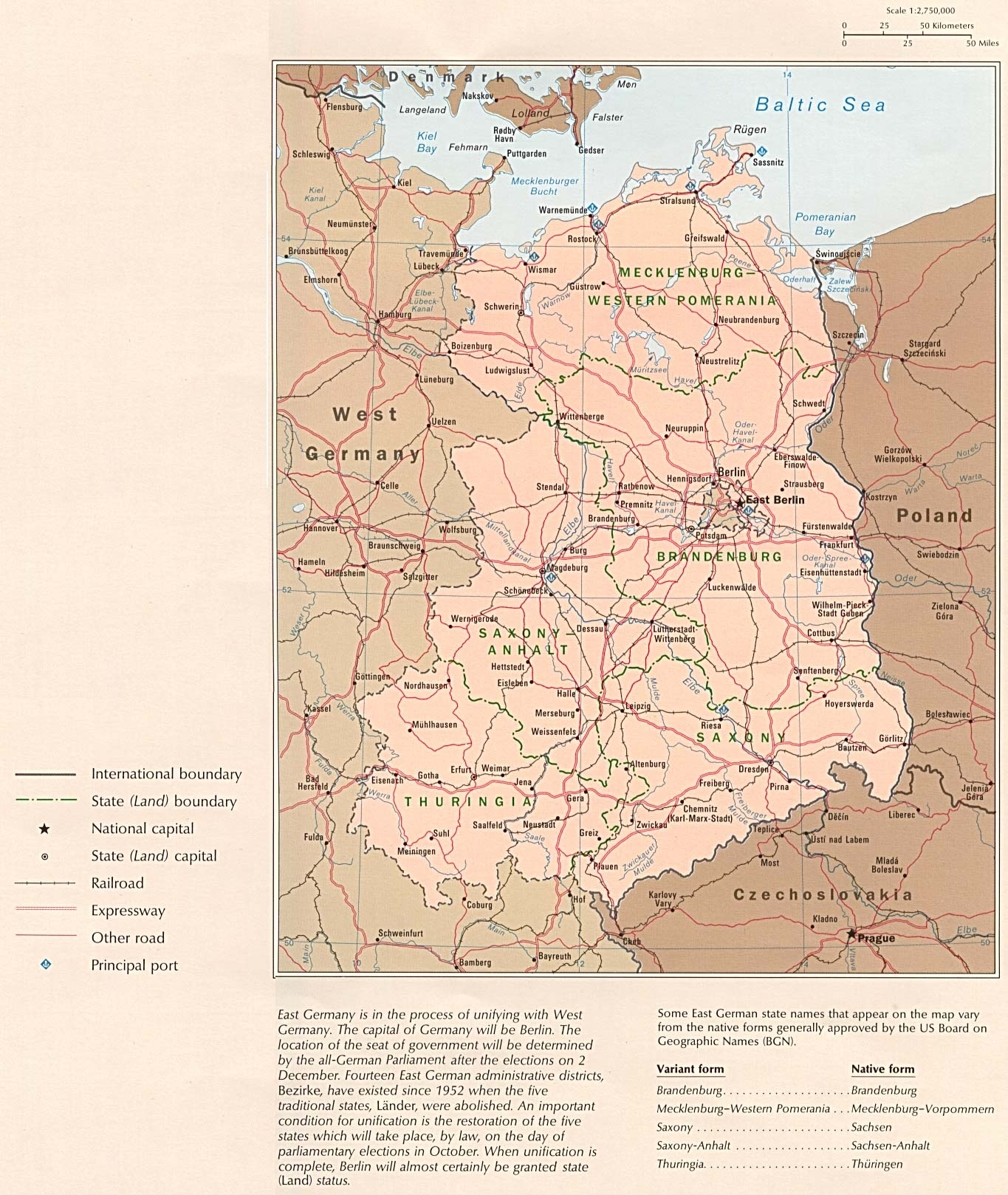 Former East Germany Political Map - Full Size | Gifex inside East Sea Germany Map