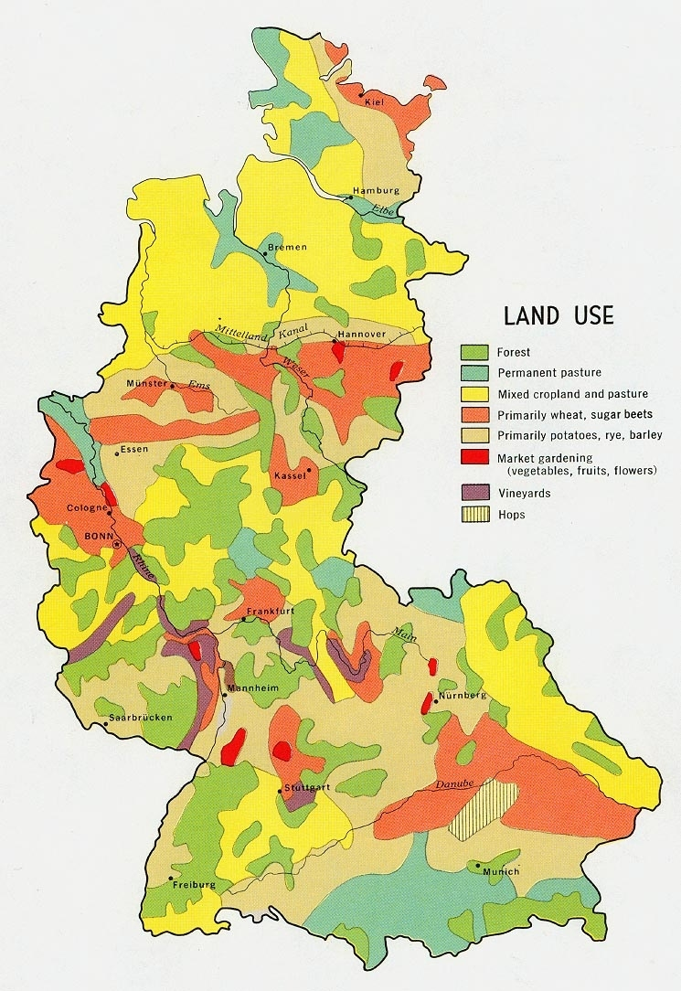 Former West Germany Land Use - Full Size | Gifex for Germany Land Use Map