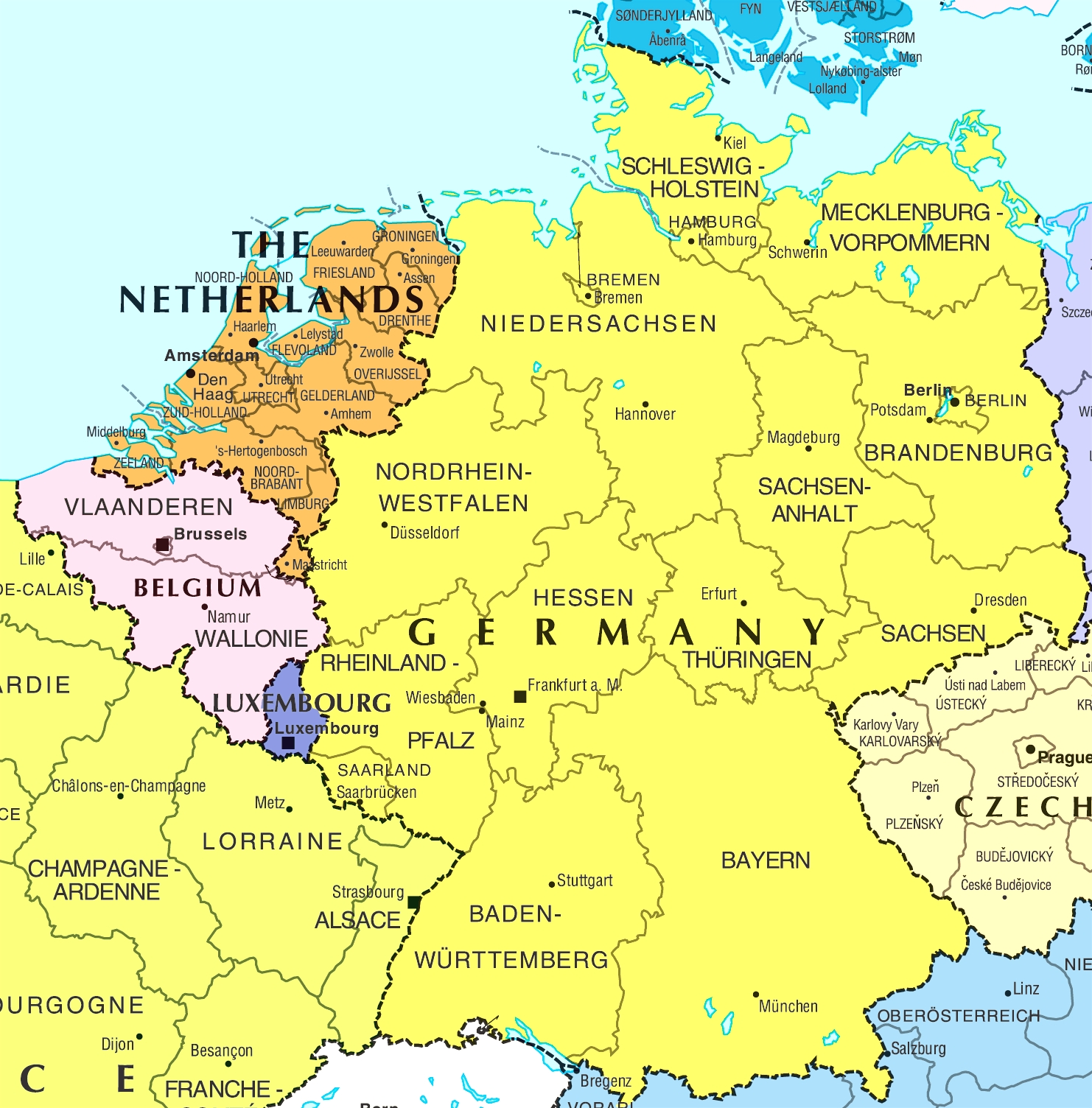 France Germany Map And Travel Information | Download Free France in Map Of Germany And France