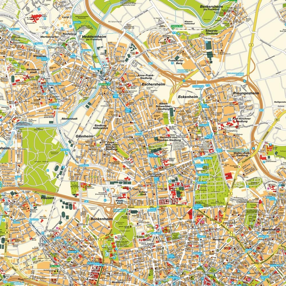 Frankfurt City Centre Map And Travel Information | Download Free with regard to Map Of Frankfurt Germany City Center