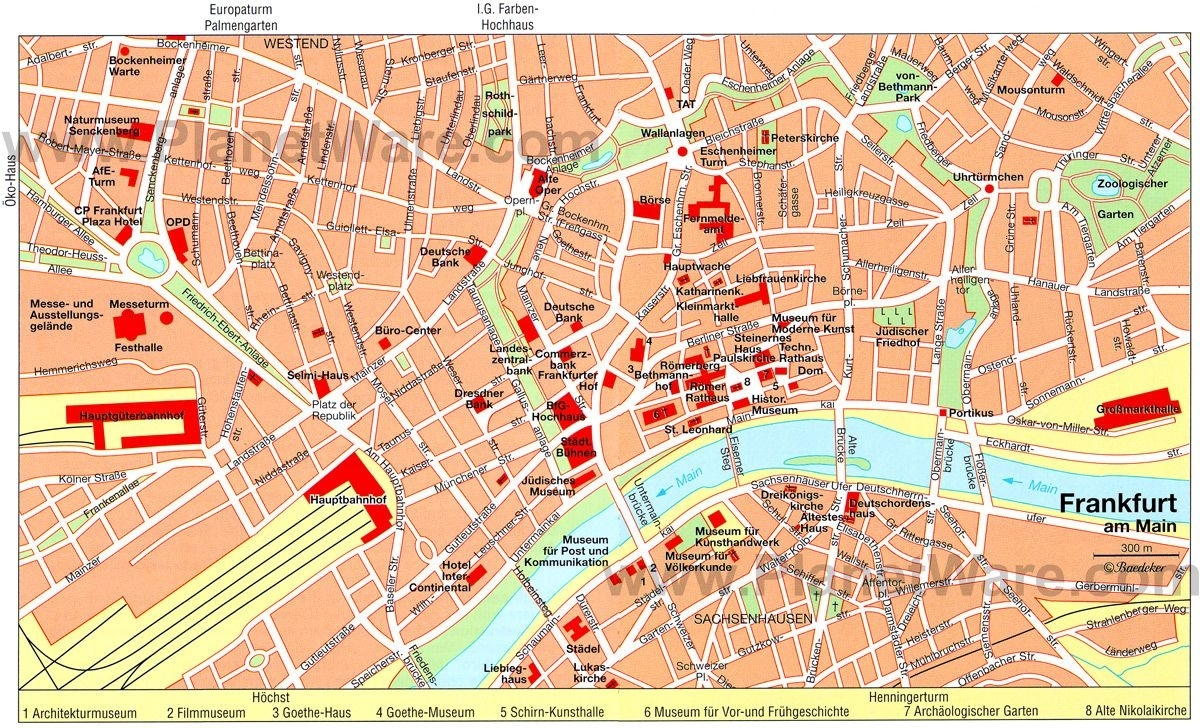 Frankfurt Map - Tourist Attractions   Germany In 2019   Paris throughout Tourist Map Of Frankfurt Germany
