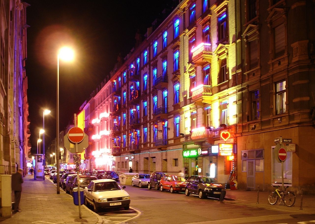 Frankfurt's Red Light District - One Of Many Across Germany. Photo for Red Light District Frankfurt Germany Map