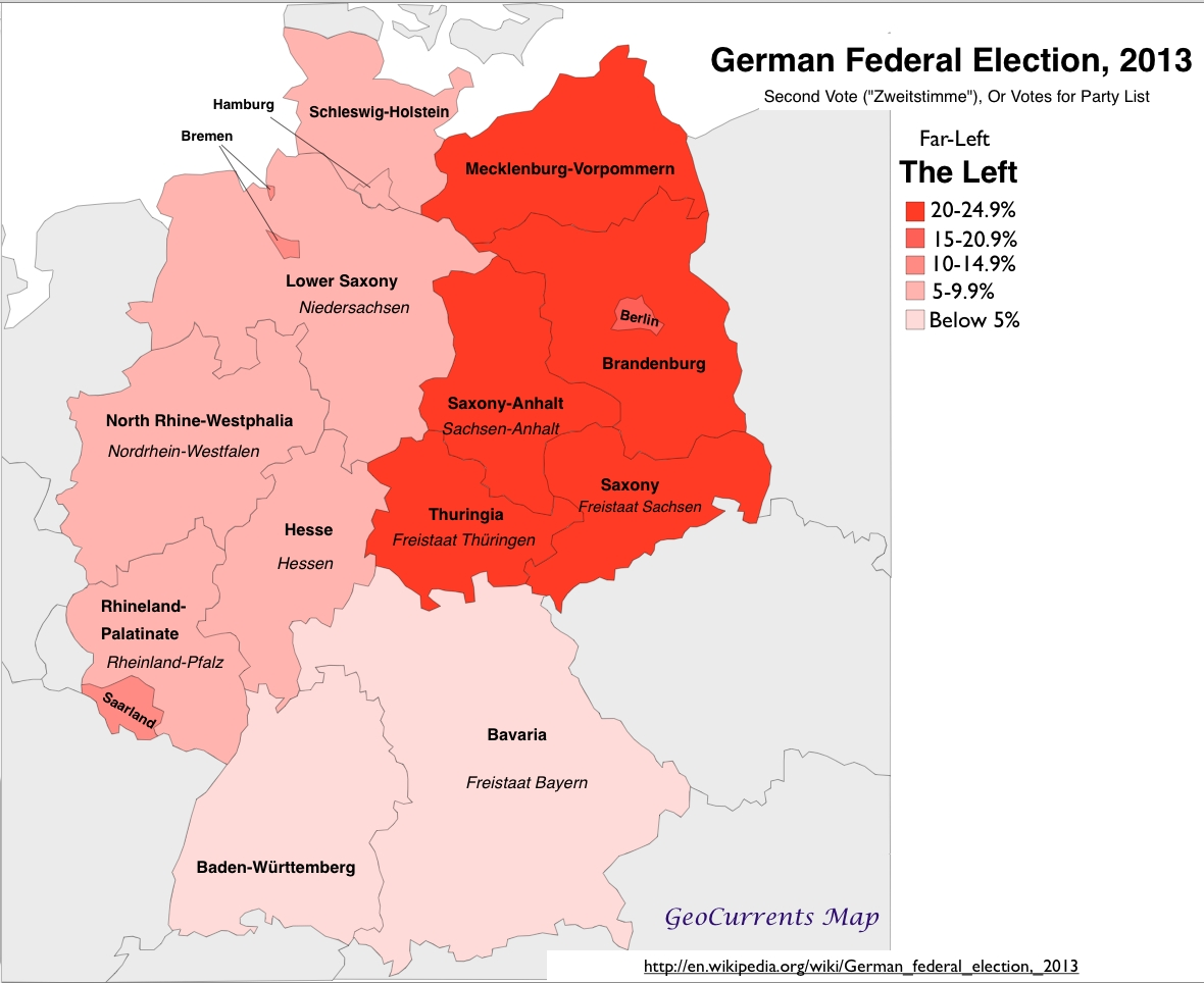 Geographical Patterns In The German Federal Election Of 2013 inside Berlin East Germany Map