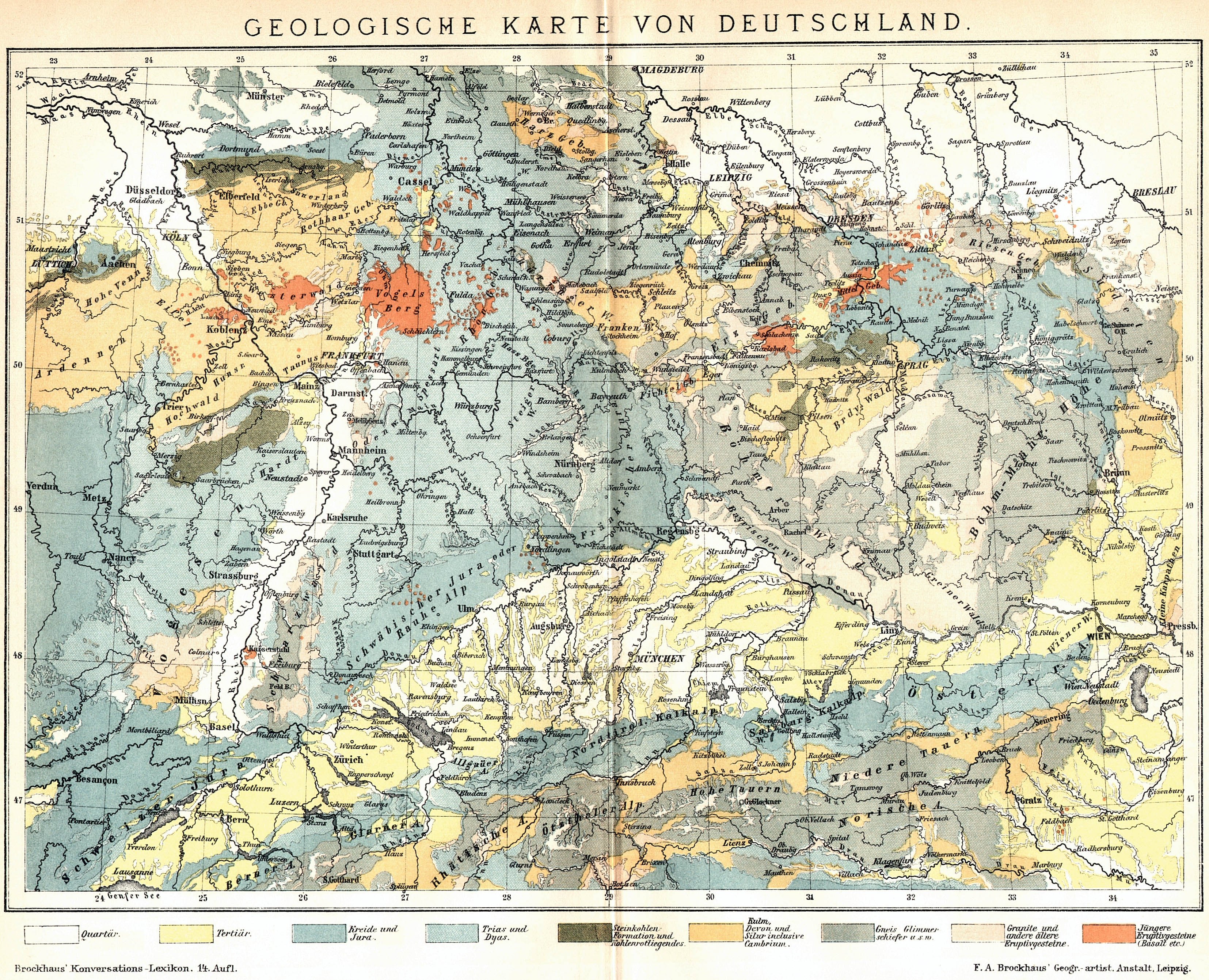 Geological Map Of Germany | Gifex in Geological Map Of Germany