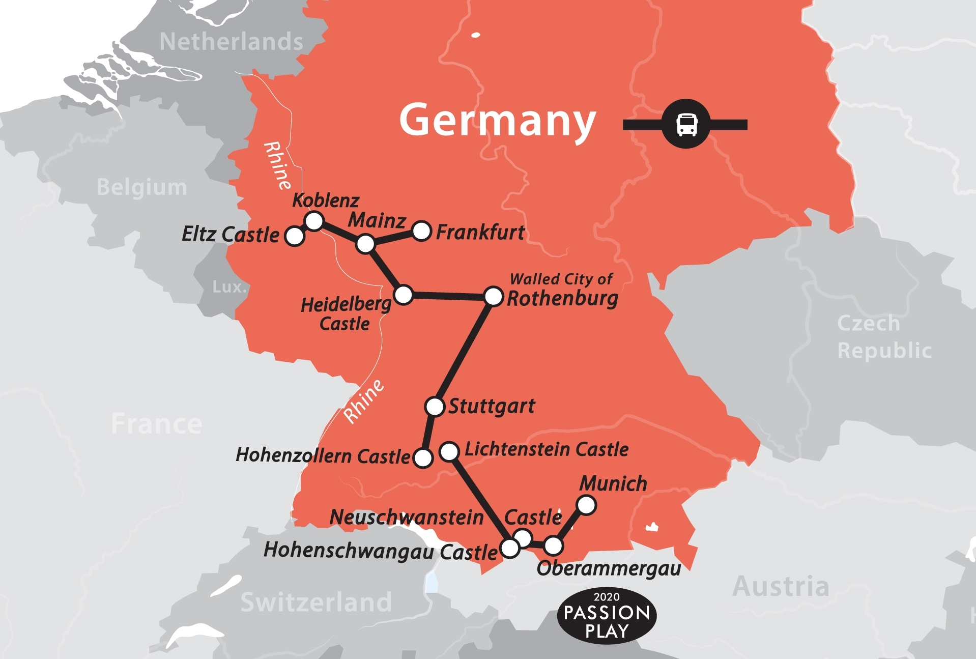 German Castle Tour – Fun For Less Tours pertaining to Castles In Germany Map