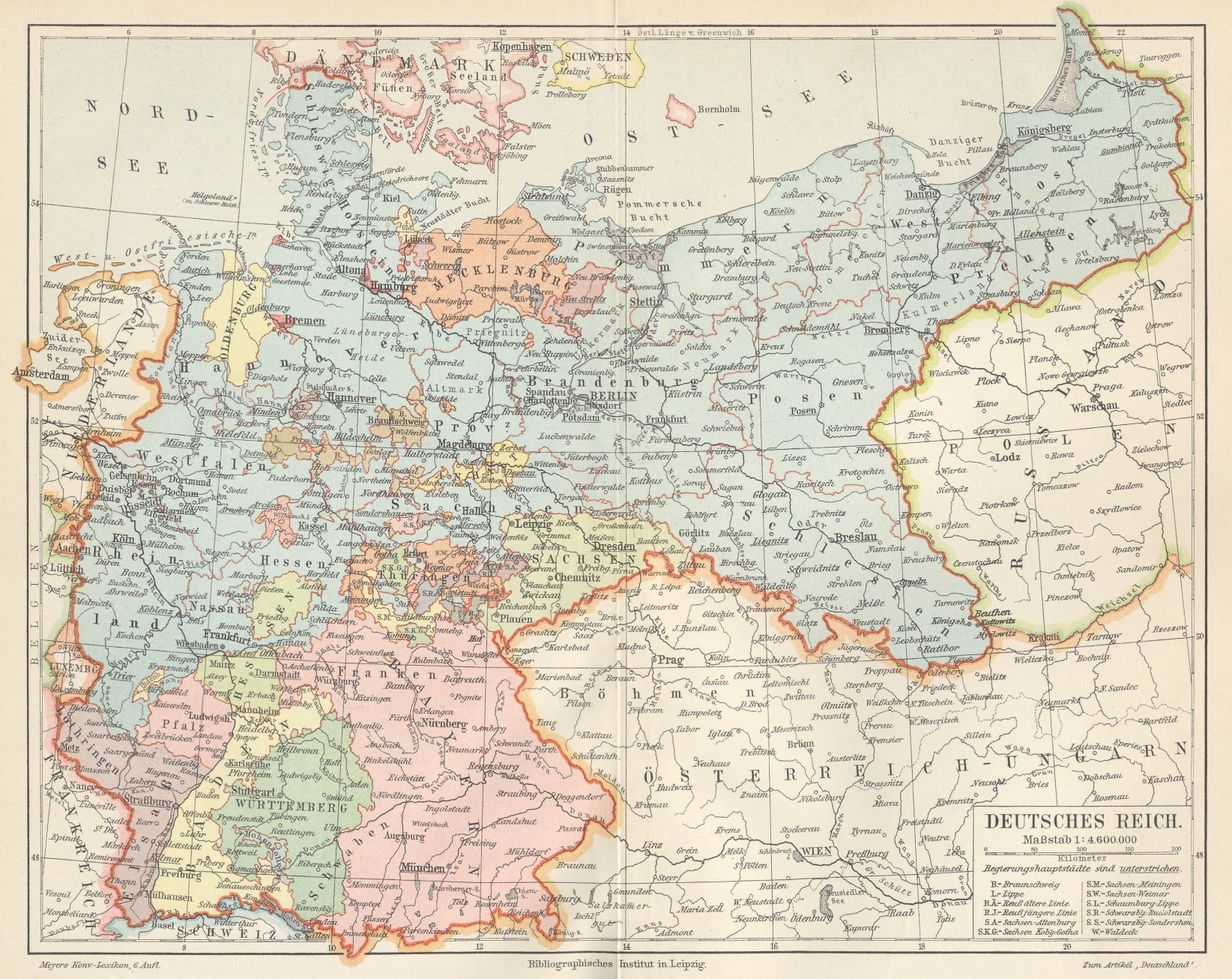 German Empire In 1900   Gifex in German Map In 1900