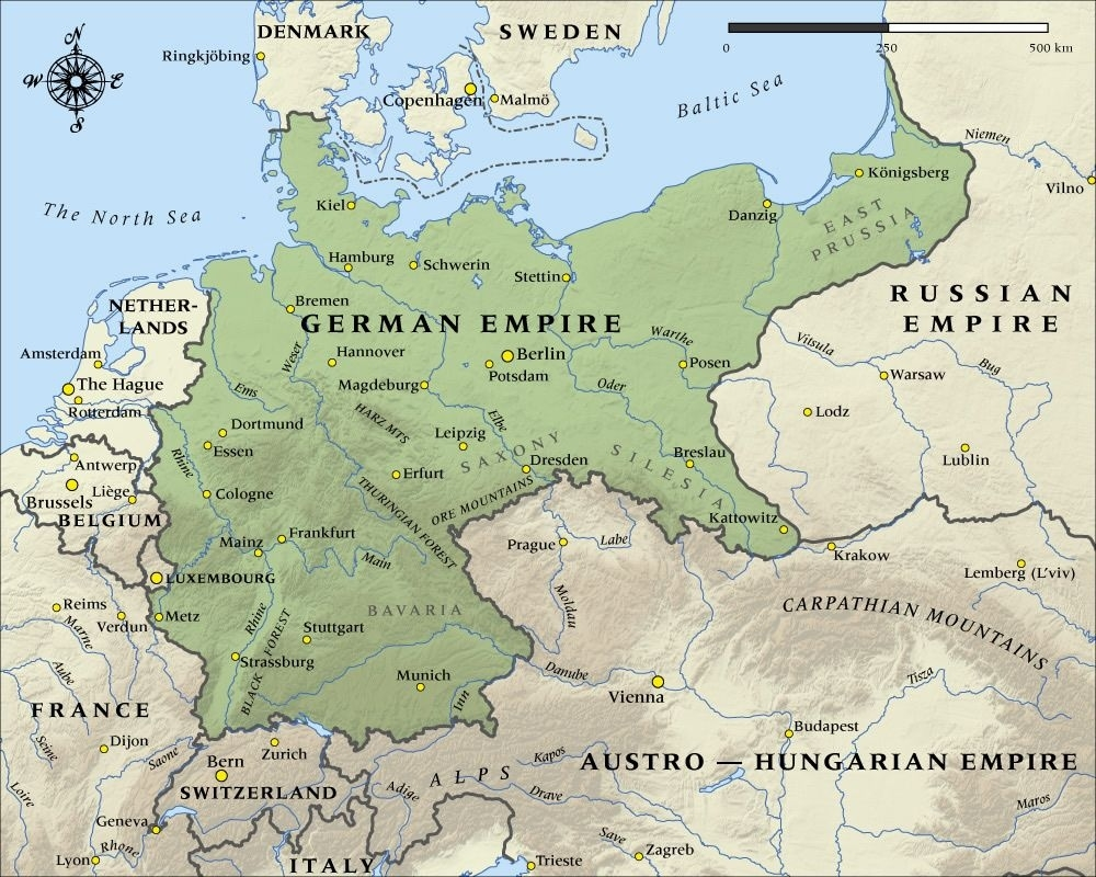 German Empire In 1914. | Historical Maps | Map, Historical Maps intended for Map German Empire 1914