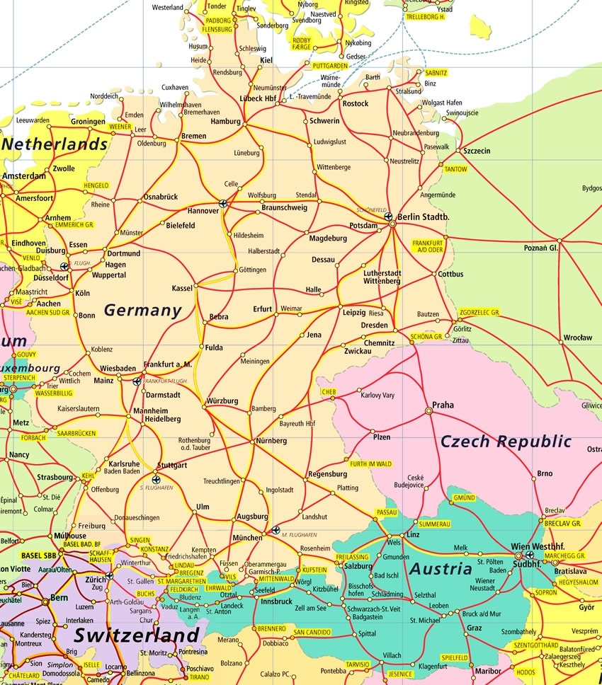 German Road Map And Travel Information | Download Free German Road Map within Road Map Germany Free