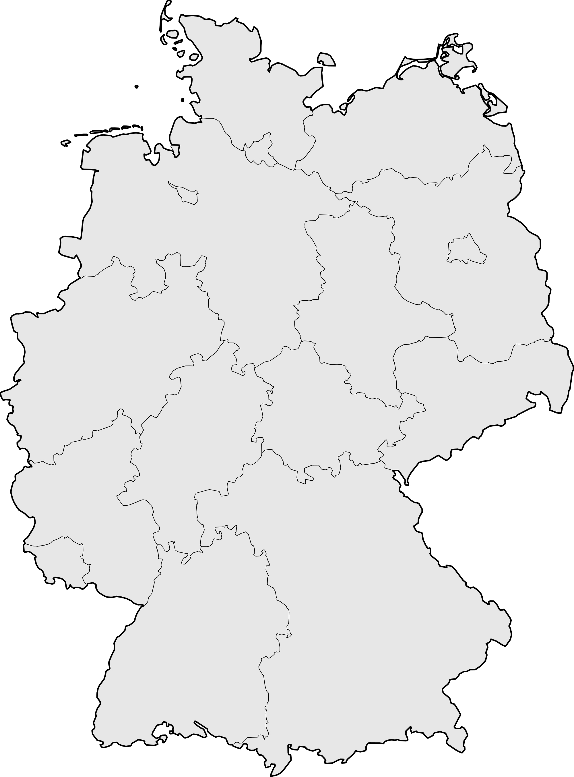 Germany Blank Map • Mapsof with regard to Outline Map Of Germany With States