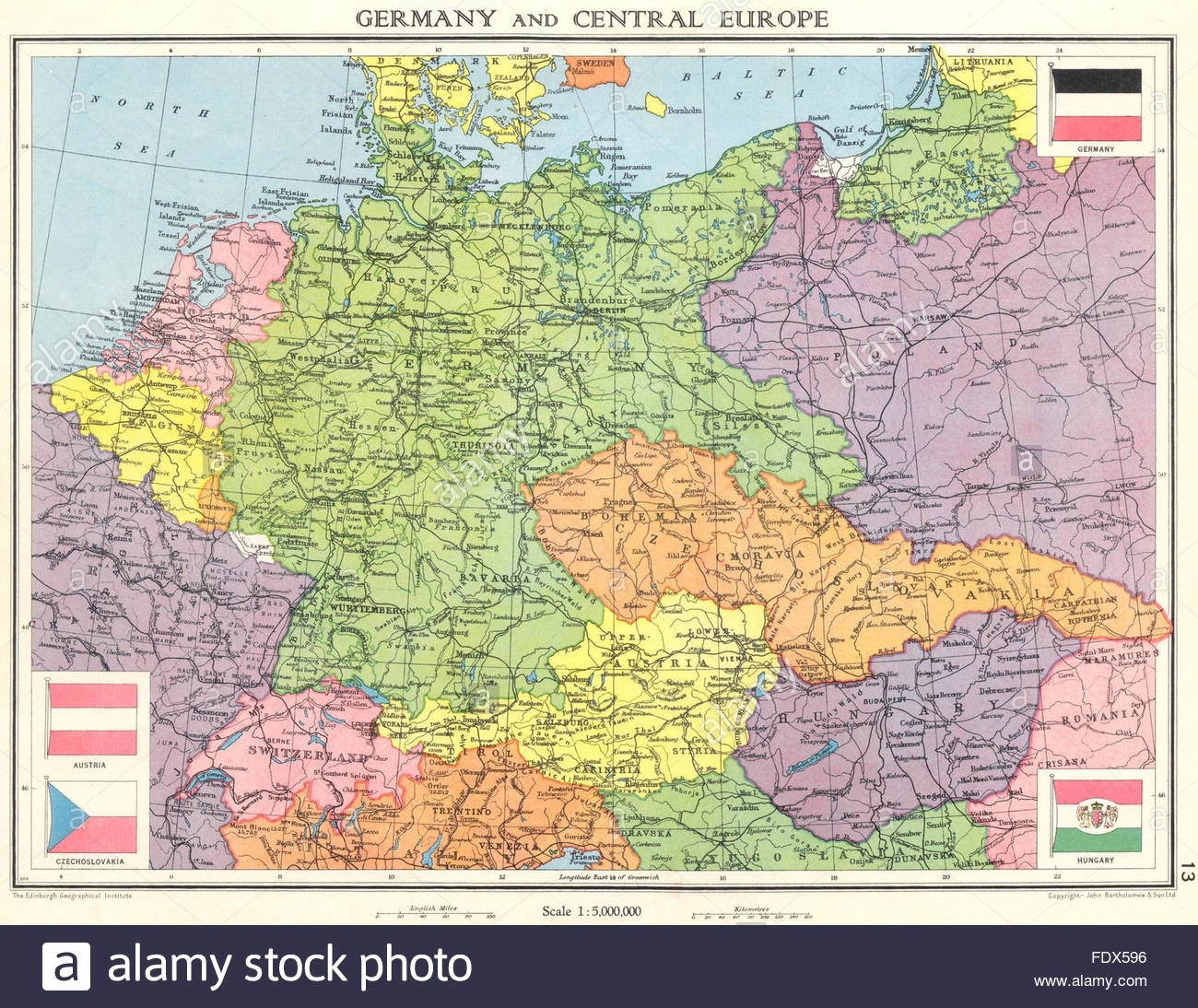 Germany & Central Europe: Shortly Before World War 2. Saarland, 1938 with Map Of Germany Before Ww1