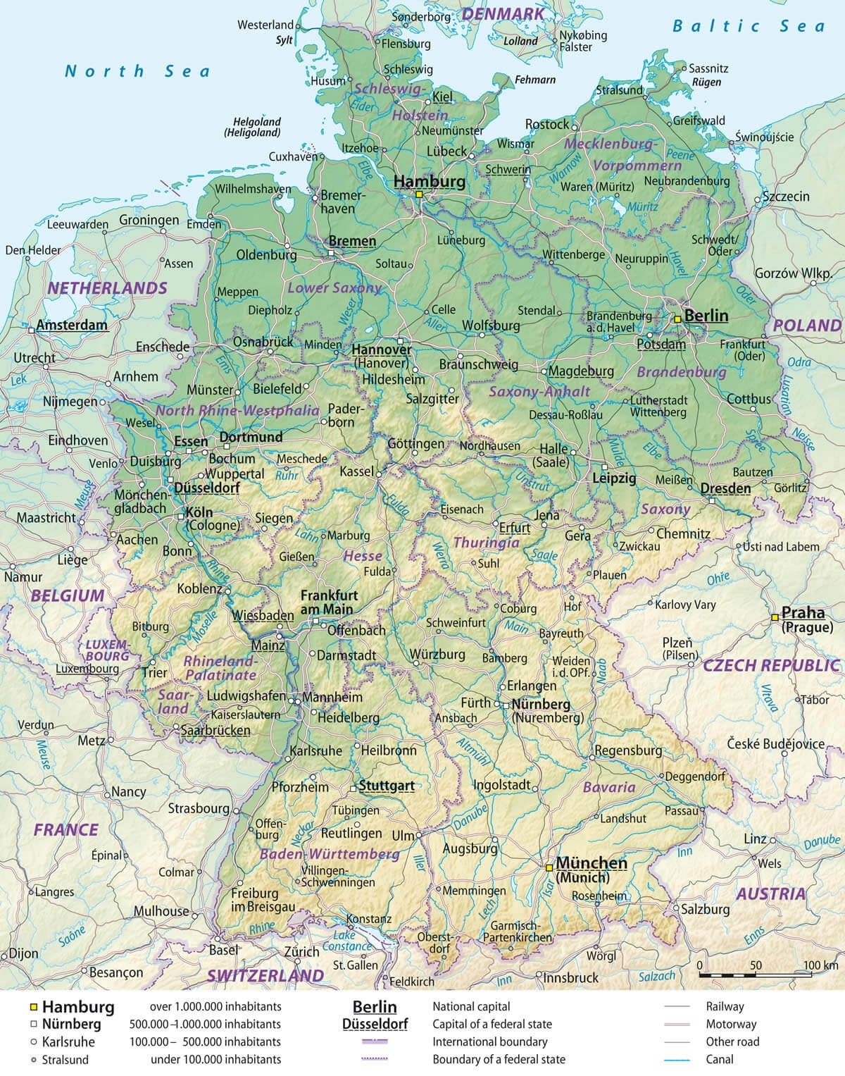 Germany Cities Towns Map throughout Free Map Of Germany With Cities And Towns