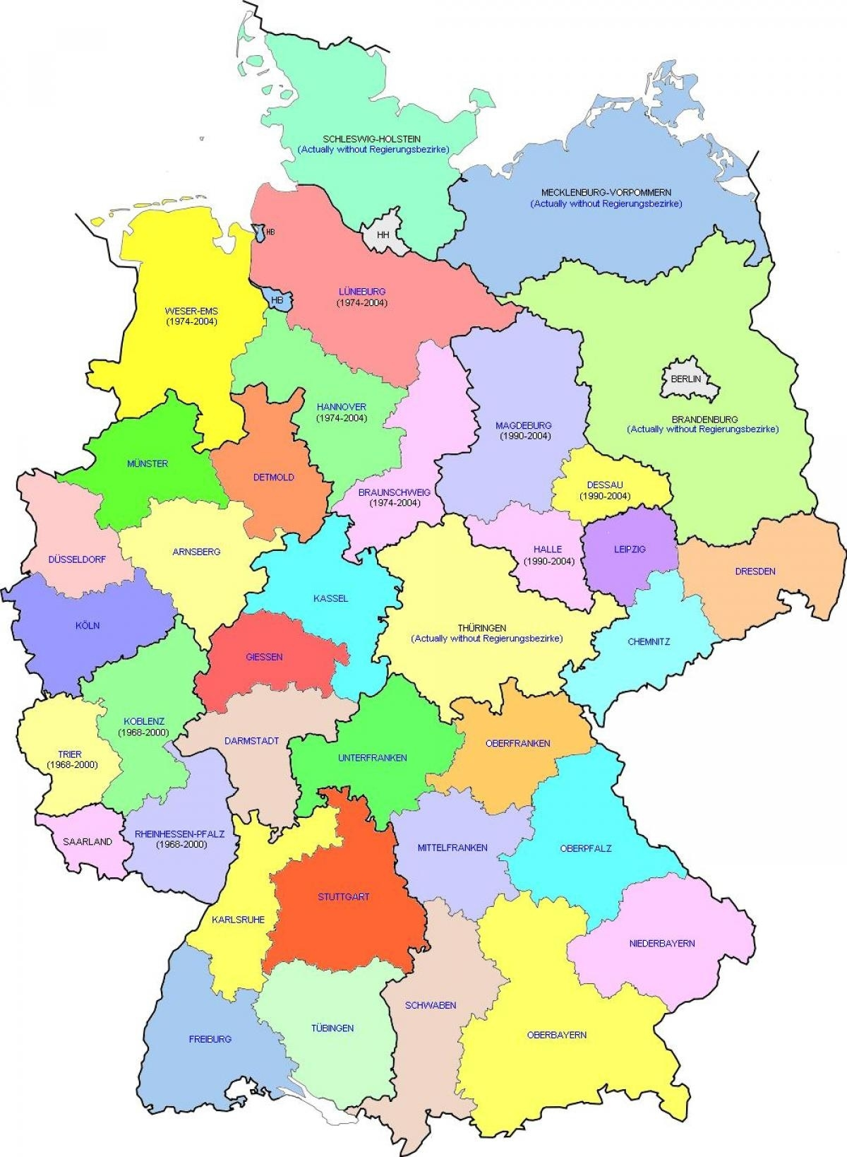 Germany Districts Map - Map Of Germany District (Western Europe inside Germany Districts Map