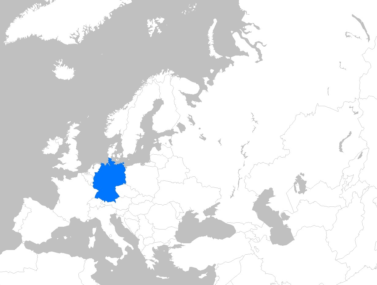 Germany Europe Map | Sendflyer2 for Germany Location In Europe Map