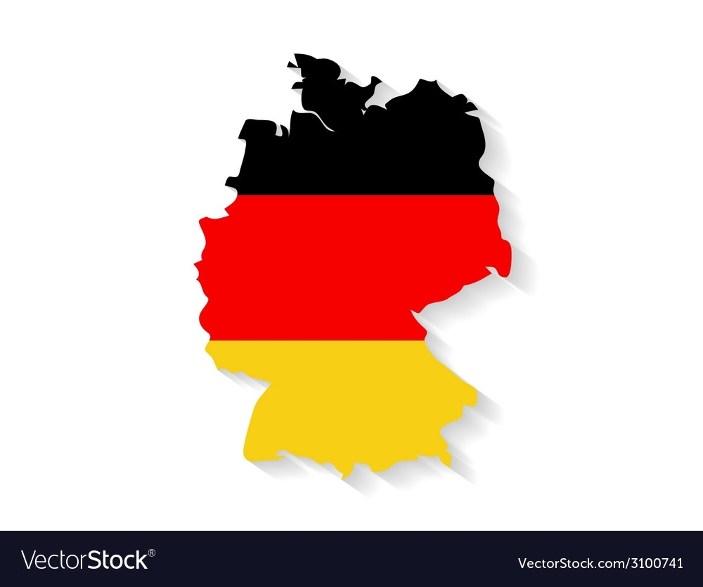 Germany Flag Map With Shadow Effect regarding Germany Flag Map