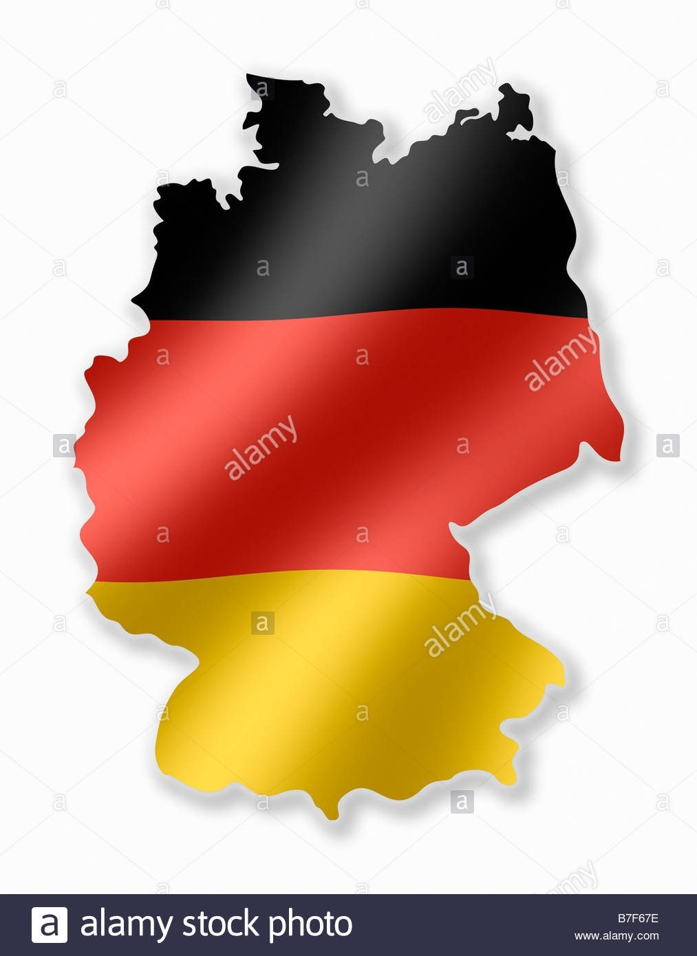 Germany German Deutschland Country Map Outline With National Flag regarding Germany Country Map Outline