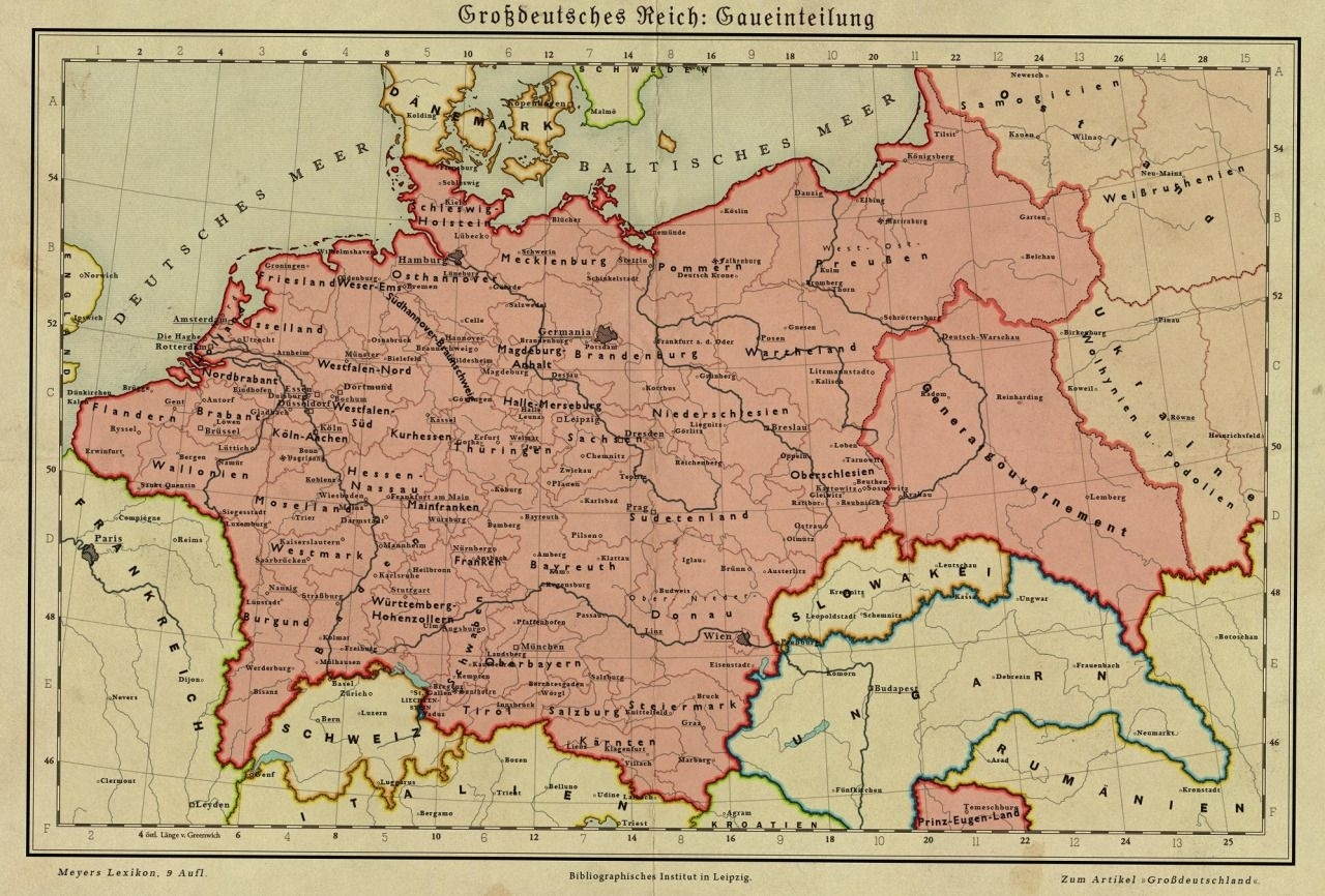 Germany In 1950. Alternate History Map In Case Of A German Victory in Map Of Germany Before Ww1