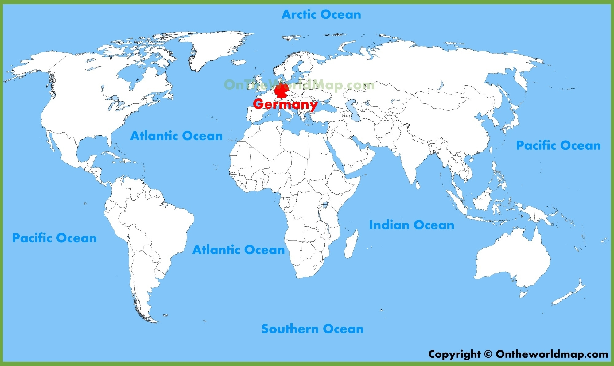 Germany Location On The World Map with regard to Germany In World Map Political