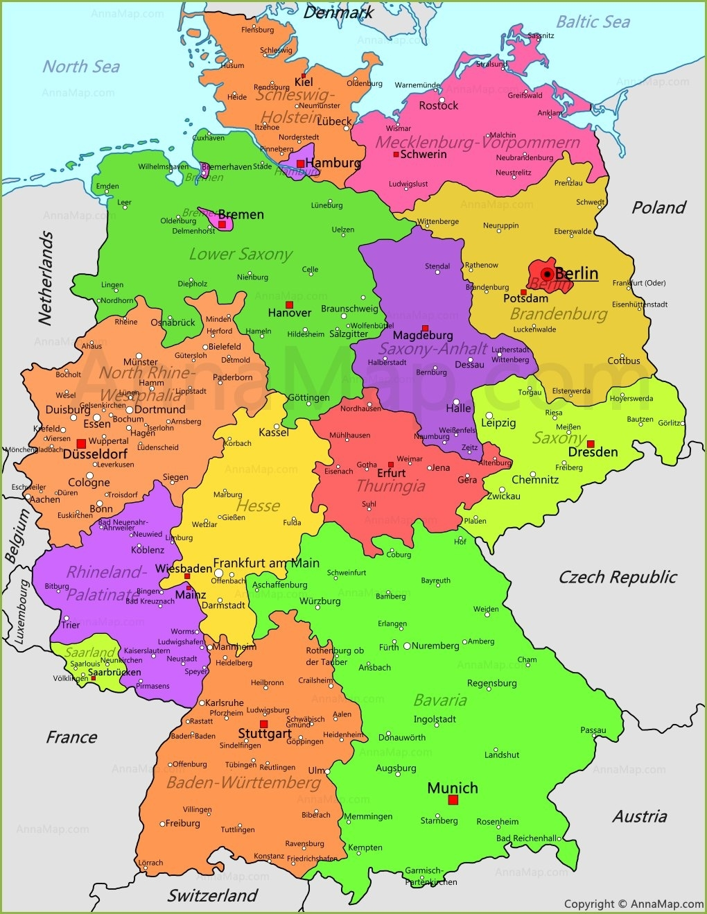 Germany Map   Germany Political Map - Annamap for Germany Map