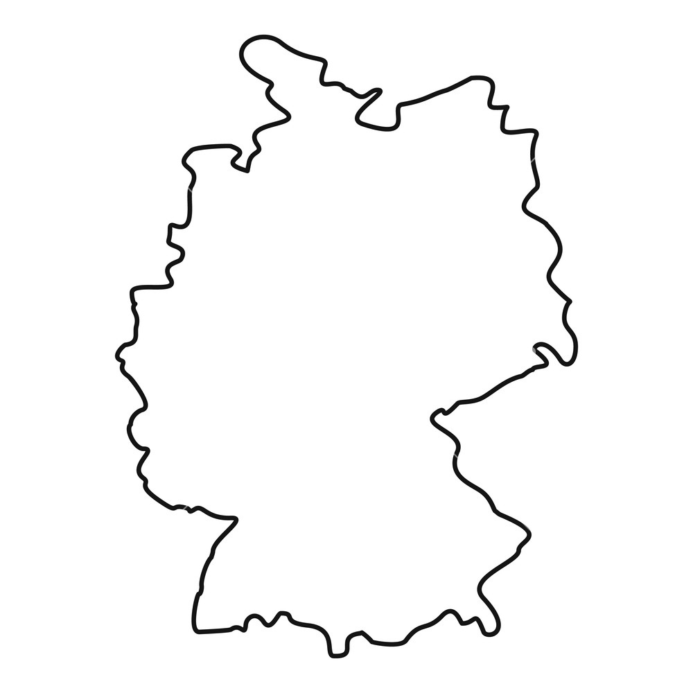 Germany Map Icon. Outline Illustration Of Germany Map Icon For Web inside Outline Map Of Germany And Surrounding Countries