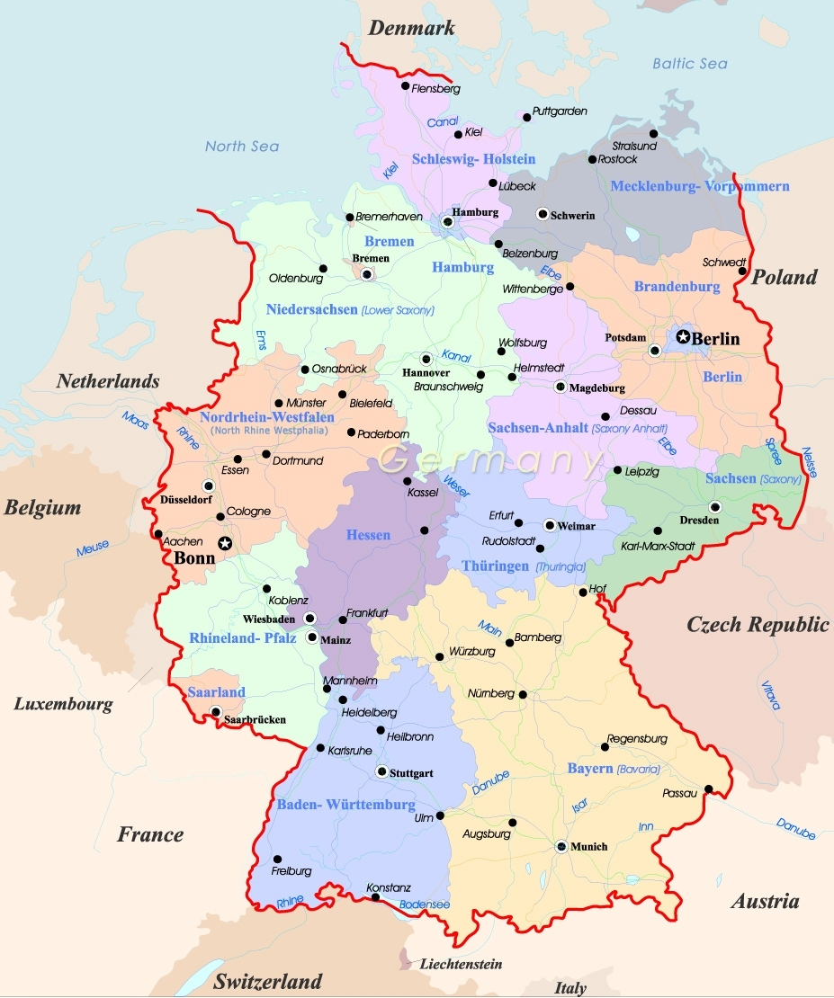 Germany Map - Travel with Germany Location In Europe Map