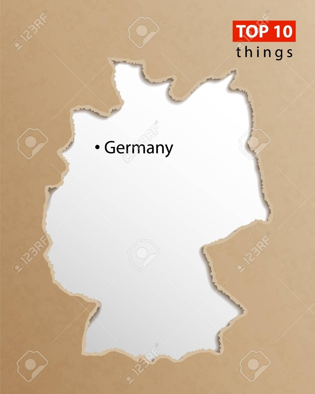Germany Map Vector. German Maps Craft Paper Texture. Empty Template.. within Empty Map Of Germany