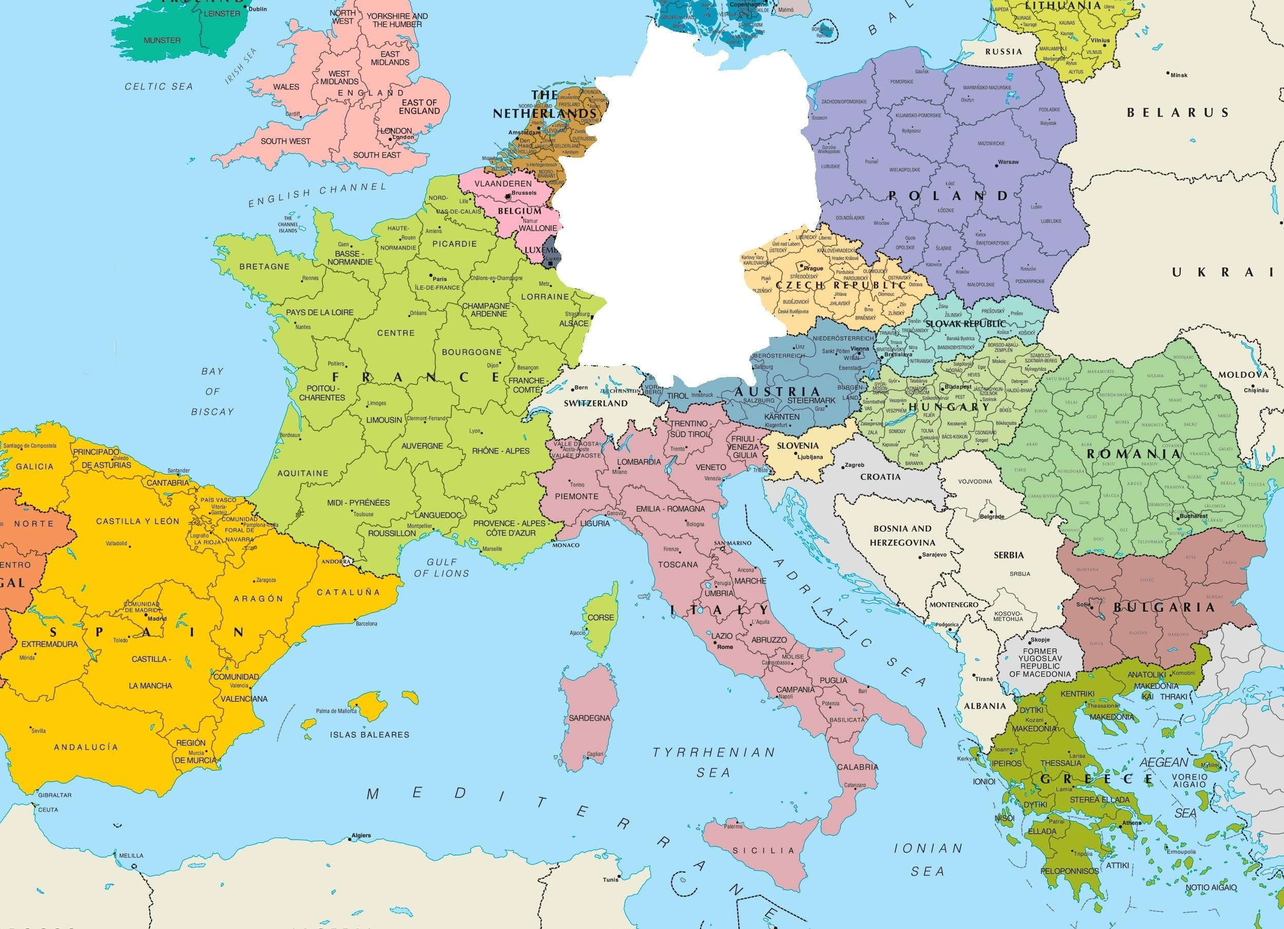 Germany On Europe Map K9Cev2O | D1Softball in Germany Location In Europe Map