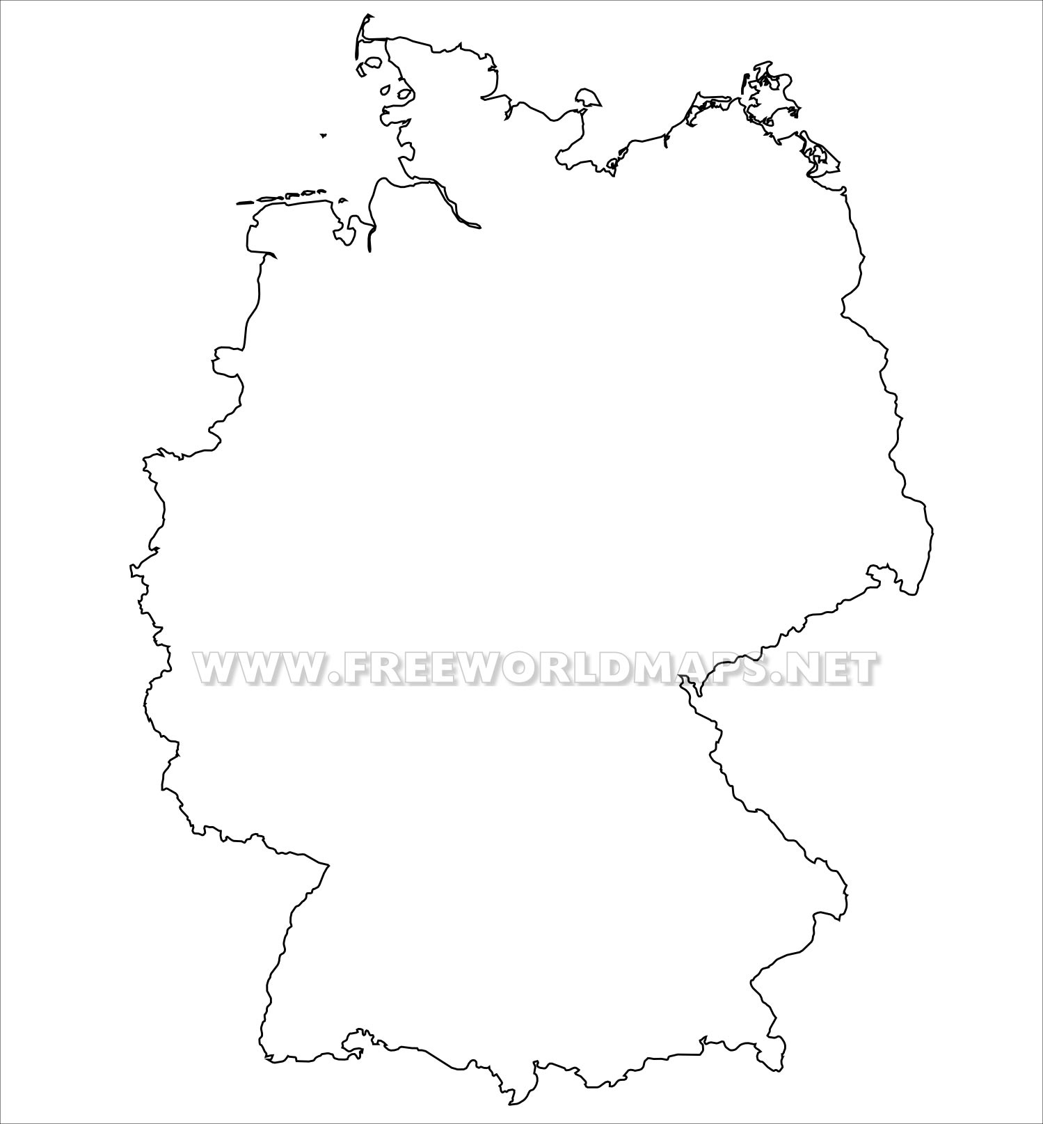 Germany Political Map within Germany Map Outline