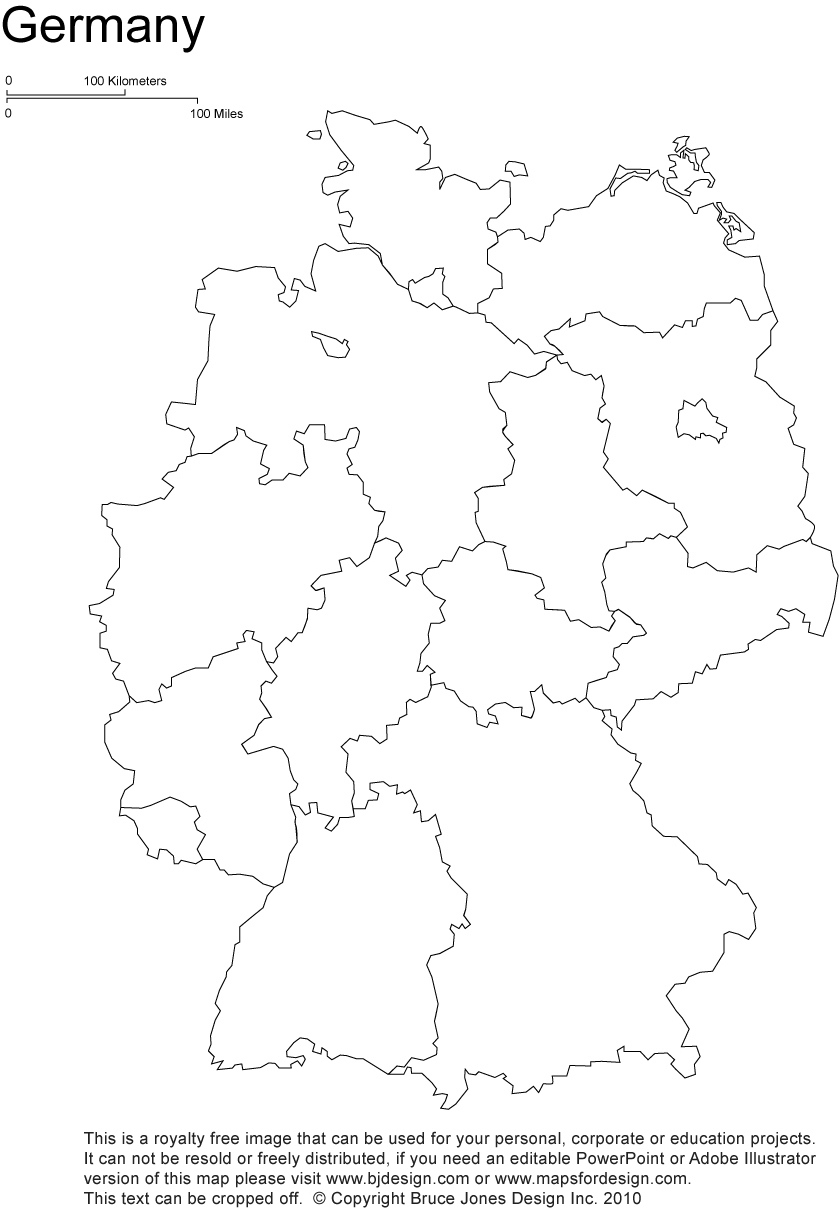 Germany Printable, Blank Maps, Outline Maps • Royalty Free intended for Printable Map Of Germany And Surrounding Countries