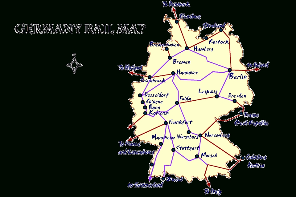 Germany Rail Map And Transportation Guide throughout Greece To Germany Train Map