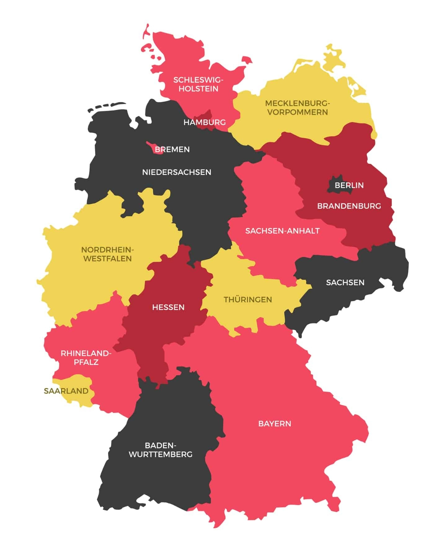 Germany States Map   Ephotopix with German States Map