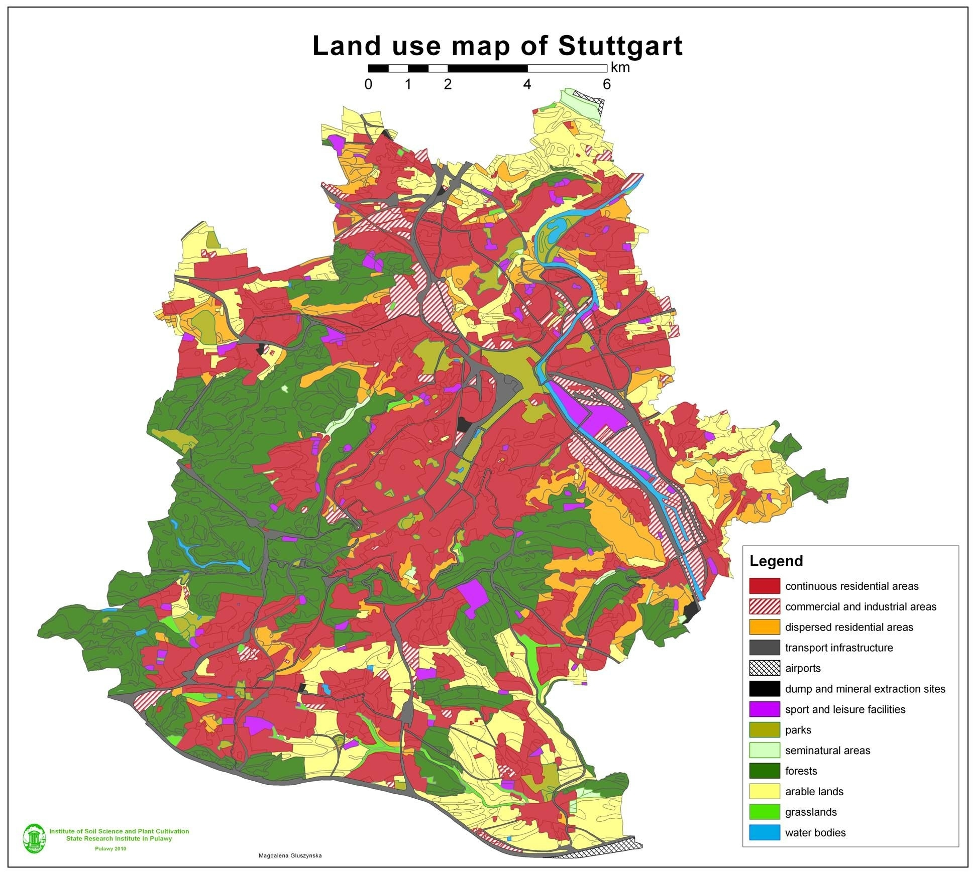 Germany: This Is A Land Use Map Of Germany. The Land Is Used Mostly regarding Germany Land Use Map